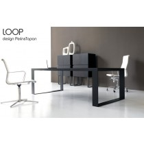 Bureau de DIrection LOOP, Wengé, 250X100 cm, Design Perin & TOPAN