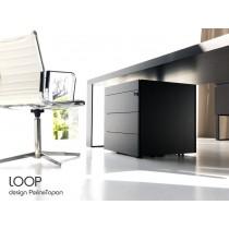 Caisson mobile à tiroirs LOOP, Wengé, Design Perin & Topan