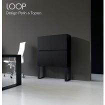 Armoire de bureau LOOP, 87X130 cm, Design Perin & TOPAN