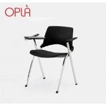 Chaise pliante à écritoire OPLA BR, design Angelo Pinaffo pour IBEBI Design