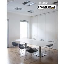 Table de réunion PLANO, 240x120 - 240X140 cm, Design by PEDRALI R&D