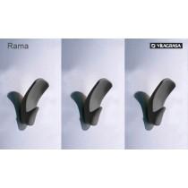 Set de 3 pateres, RAMA 1, coloris Anthracite, Design by Josep Lluscà