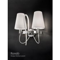 RONDO PA2, Applique, Métal chromé et cristal vernis, Design Andrea LAZZARI