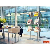 Porte brochures SIX PACK, Design Pelikan & Co