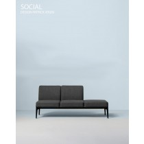 SOCIAL, Sofa 3LLP,178 x 66 cm H 78 cm, Design Patrick JOUIN