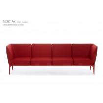 SOCIAL, Sofa DSO_4AALL, 249 x 66 cm H 78 cm, Design Patrick JOUIN