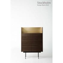 Commode STOCKHOLM STK 201, plaqué Chêne teinté Ebène, 92x46x134 cm, Design Mario RUIZ