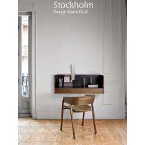 Console murale STOCKHOLM STK 501, plaqué Noyer naturel, 92x46x37 cm, Design Mario RUIZ