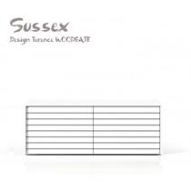 Buffet bas SUSSEX plaqué Chêne laqué Blanc pores ouverts, Design Terence Woodgate