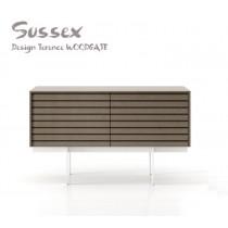 Buffet SUSSEX 211 plaqué Chêne teinté Sable fonçé, Design Terence Woodgate