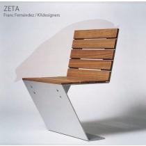 Siège ZETA en Aluminium et Bois, Design FRANC FERNÁNDEZ + KX DESIGNERS