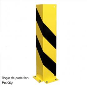 Angle de protection, tôle d'Acier laquée jaune et noir, H 120 cm, Design ProCity