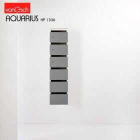 Boites à lettres AQUARIUS HP 1306, 6 casiers Bois, 30x42 H 122 cm, VAN ESCH