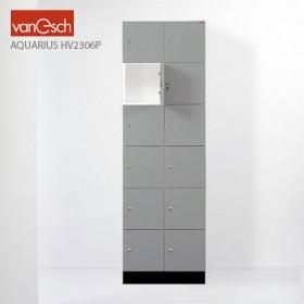Vestiaires AQUARIUS HV 2306 P, 12 casiers Bois, 60x52 H 190 cm, VAN ESCH