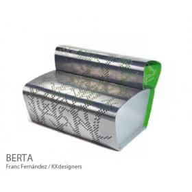 Banc à dossier en Aluminium BERTA, Design FRANC FERNÁNDEZ + KX DESIGNERS