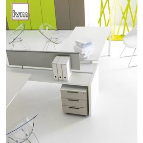 Caisson mobile à tiroirs K501, serrure et tiroirs métal, IVM office