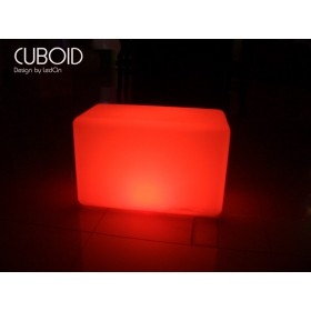 Tabouret CUBOID Lumineux LED rechargeable, 55X30X35 cm, Design by LED-On