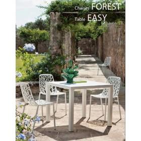Table New EASY en Aluminium, 90x90 Cm, FAST Spa