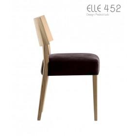 Chaise ELLE 452, Chêne et Velours, Design PEDRALI Lab