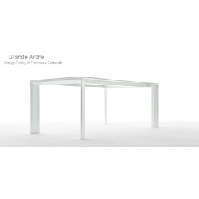 Table Grande ARCHE en Aluminium, 220x100 Cm, FAST Spa