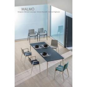 Table MALMÖ, Frêne, 140 x 90 cm, Designers Cazzaniga - Mandelli - Pagliarulo