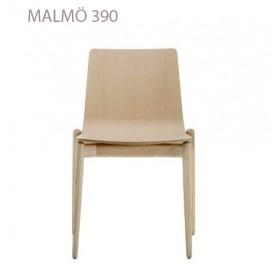 Chaise empilable MALMÖ 390, Frêne blanchi, Designers Cazzaniga - Mandelli - Pagliarulo
