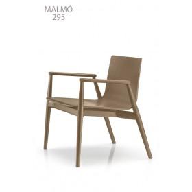 Fauteuil MALMÖ Lounge 295, Frêne blanchi, Designers Cazzaniga - Mandelli - Pagliarulo