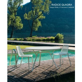 Table RADICE QUADRA, Aluminium Indoor/Outdoor, D 130 Cm, FAST Spa