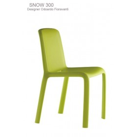 Chaise empilable SNOW,  Designer Odo Fioravanti