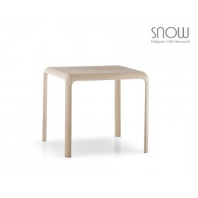 Table empilable SNOW Indoor/Outdoor, 80 X 80cm, Designer Odo Fioravanti