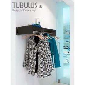 Porte manteaux TUBULUS W, 80 cm, existe jusqu'à 120 cm, VAN ESCH