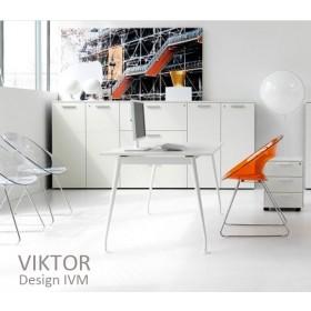 Bureau VIKTOR, plateau Ivoire, 100 à 200X80 cm, IVM Office