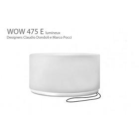 Tabouret lumineux WOW 475 E, Designers Claudio Dondoli and Marco Pocci
